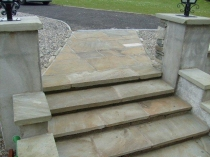 Natural random cut pavings steps