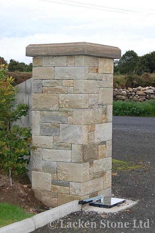 Dry Stone Pillar : Walls capping lacken stone premier irish sandstone