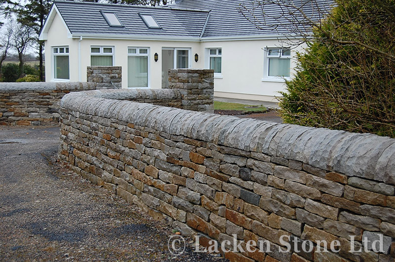 05 Half Moon Capping Over Drystone Wall