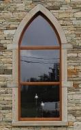 Flame Finish Gothic Window Dressing