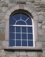 Flame Finished Segmented Arch with Key Stone, Upstands, Kickers & Cill